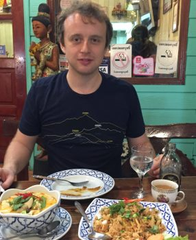 First Time Traveler to Thailand Launching His First Real Taste of Thai Food with Trepidation