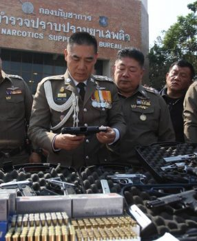After Inspecting Evidence Presented During a Press Conference, Thai Polce Cheif Pol Gen Chakthip Chaijinda Wishes He Could Own All Those Weapons