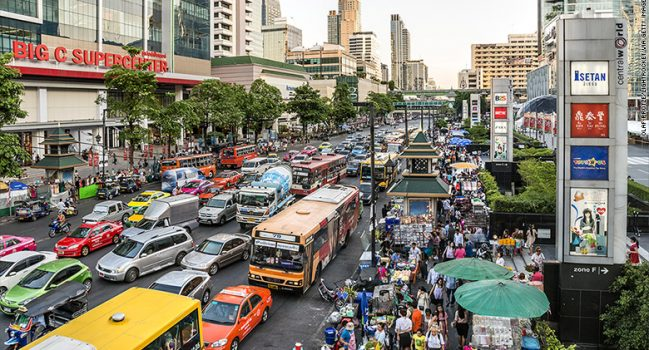 Commuters Stuck in Traffic for More Than 3 Hours Question Whether Bangkok Becoming the World's Next Mega City Is a Laudible Acheivement